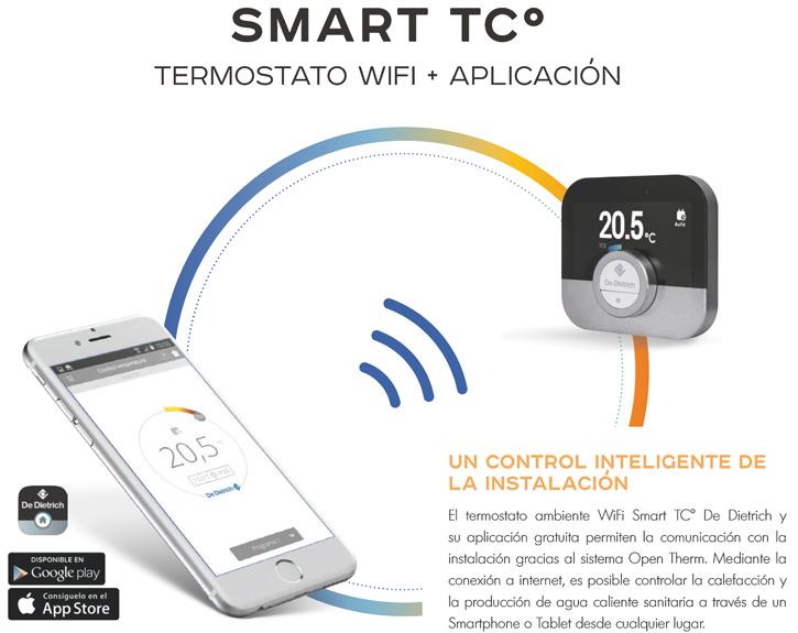 El termostato SMART TCº permite un control inteligente de la instalación