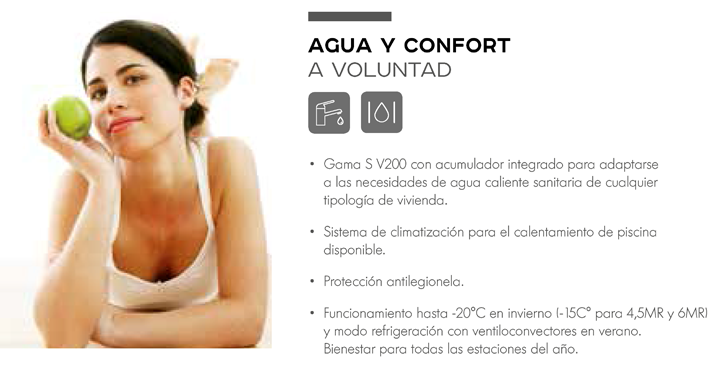 Agua y confort a voluntad