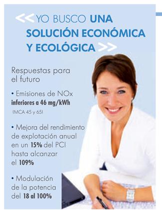 Una solución económica y ecológica. Menos de 46 mg/kWh en emisiones NOx