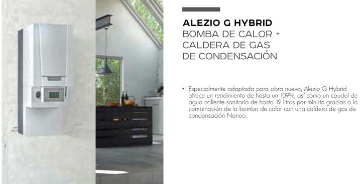 ALEZIO G HYBRID es la bomba de calor + caldera de gas de condesación