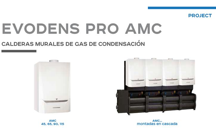 Calderas murales de gas de condensación EVODENS Pro AMC