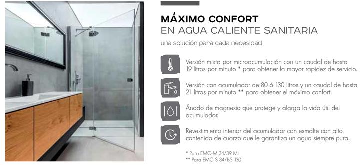 Máximo confort en agua caliente sanitaria