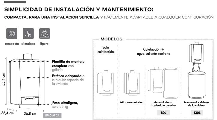 Simplicidad de instalación y mantenimiento